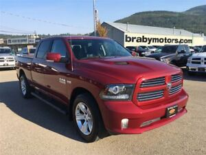 2014 Ram 1500 Sport Crew Cab 64 Box w/Heated Seats