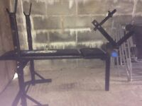 York 6603 weight training bench with leg extension