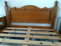 Solid Pine Double Bed standard size