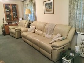 Armchair and fourseater settee