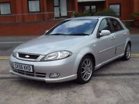 56 CHEVROLET LACETTI SPORT + ONLY 42,000 MILES + NEW MOT