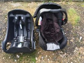 Grace car seat baby 15kg used £15