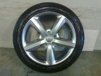 ALLOYS X 4 OF 20 INCH GENUINE AUDI Q7 5 SPOKE S/LINE FULLY POWDERCOATED INA STUNNING SHADOW CHROME