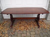 VINTAGE MID CENTURY ERCOL ELM REFECTORY DINING TABLE V.G.C POLISHES UP VERY WELL