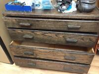 Very old solid wooden chest of draws