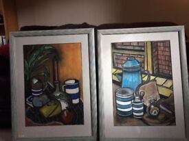 LOVELY PAIR OF PASTEL PICTURES BY L R KEMP 1991