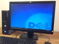 "Dell 780 Windows 10 , intel C2D 2.93Ghz, 4GB Ram, 250GB, Office + 22"" Monitor Desktop Computer"