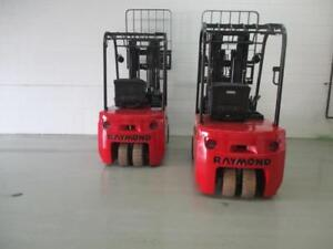 "2014 RAYMOND 3 WHEELER ELECTRIC FORKLIFT WITH 4000LB CAPACITY LIFT 188"" VERY CLEAN AND NIC TRUCK"