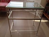 Beautiful Glass and Brushed Metal Side Table in great condition