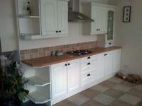 Cream Fitted Kitchen - ex display, excellent condition.