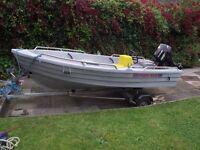 Pioner Maxi Boat, Suzuki 15HP Long Shaft Engine, Road Trailer + Extras