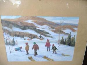 """Vintage Print """"Laurentian Hills"""" Attributed to Frank Panabaker"""