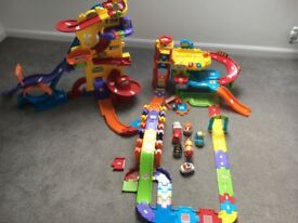 VTech Toot Toot drivers garage, extras & mega drivers set - like new