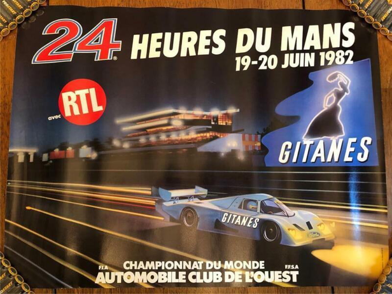 ORIGINAL 1982 LE MANS 24 HOURS HEURES DU MANS RACE POSTER RARE