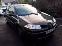 2008 Black Renault Megane Car 3dr £850 For Sale