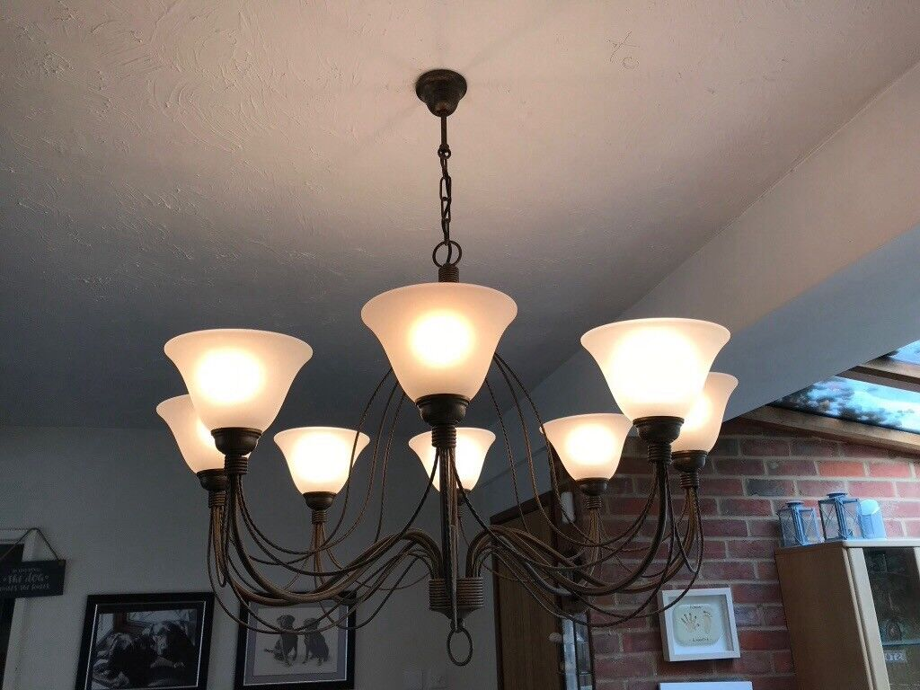 Stunning Bronze chandelier light