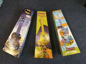 Brand new Adventure Time, Scooby doo and Batman Ukuleles!!!!
