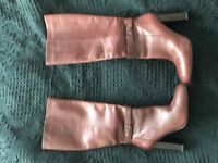 Gorgeous M&S Knee high leather brown boots with insolia soles 7.5