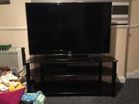 "Black polished glass 50""or bigger tv stand x2"