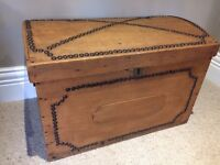 Antique Pine Studded Chest Box