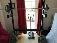 Strenght shop Yoke, bar, Z Bar, wide grip loadable barbell and played.