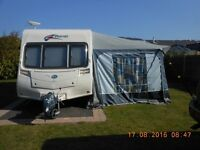 Bailey Pageant Bordeaux series 6 2008 CARAVAN 4 BIRTH Motor Mover, Very good condition 2xAwnings ETC