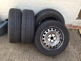 For sale 4 x steel wheels with tyres
