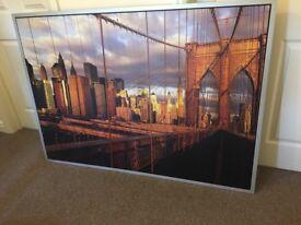 Large New York, manhattan bridge canvas