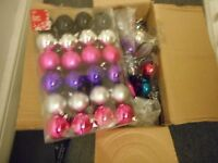 Christmas decorations (Baubles, lights etc ) bargain !!! House clearance !!!