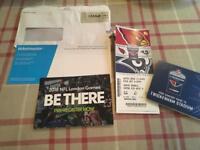 NFL International Series Tickets 1adult +2 child Arizona Cardinals v LA Rams 22October