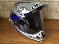 HJC CL-XS Vapor Full Face Motorcycle Helmet Silver/Blue/White Size M