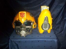Transformers Bumblebee Talking Helmet with Arm Blaster