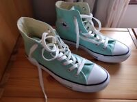 Ladies Converse hi tops Size 4 Mint Green (unworn condition)