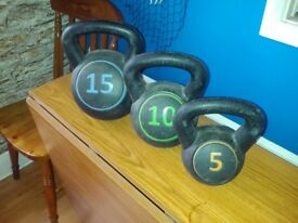 Set of kettle weights