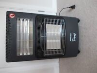 Gas & Electric Fire with two Gas bottles Bargain £35