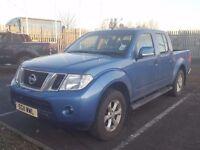 2011- 11 plate nissan navara 2.5di acenta 190 double cab pickup very low miles price plus vat