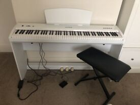 CHASE P50 Digital Piano in matte white full size 88 weighted keys 3 pedals