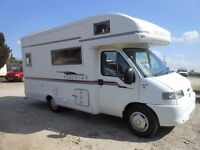 fiat ducato maxi- mwb motorhome roadstar - FSH, 4 berth, 2002-52-plate, 42,000 miles
