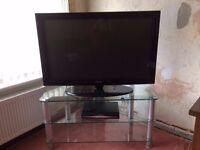 """42"""" Samsung TV and Glass Corner Unit"""