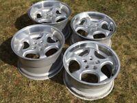 Brock B2 deep dish alloy wheels, 17inch, 5x100 staggered, Vw Golf 4, Bora Audi