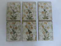 1970's 80's tiles 6 Flower pattern New Italian