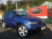2005 55 BMW X5 3.0 D Sport 5 Door Automatic Turbo Diesel Low Miles Estoril Blue! One Owner!!
