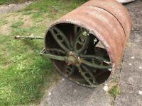 Cast Iron Vintage Lawn Roller