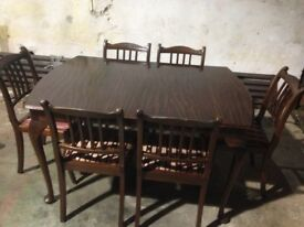 Table & chairs ( mahogany)