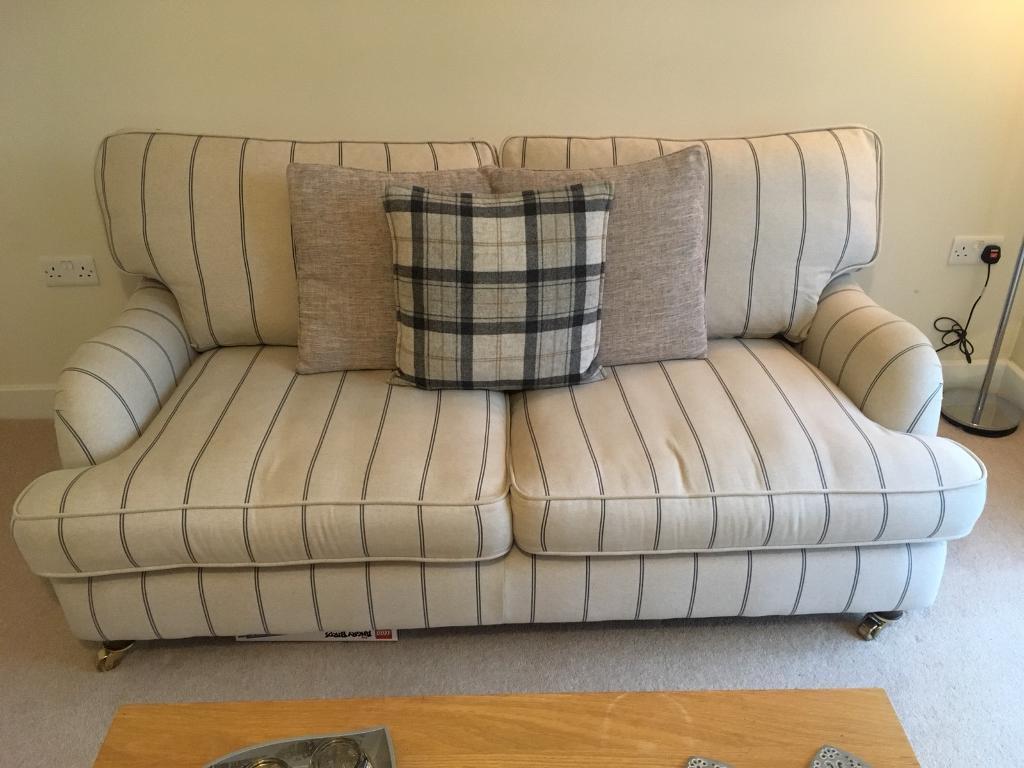 DFS Gower Stripe Large Sofa