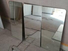 5 reclaimed mirrors of various sizes