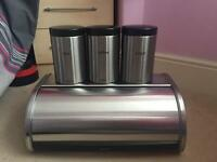 Brabantia tea/coffee/sugar and bread bin