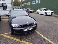 Black BMW Series 1 Automatic /Diesel