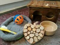 Guinea Pig toys, house & cuddle cosy