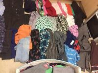 Lots of clothes and shoes